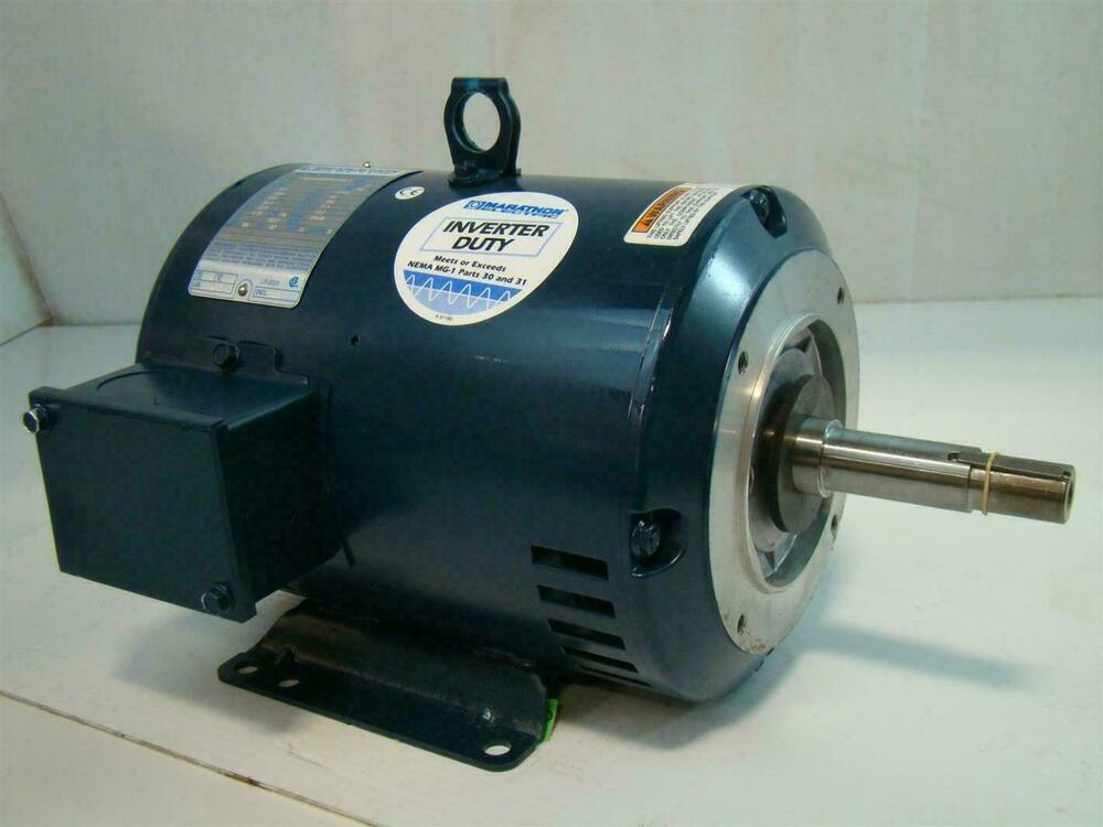 Marathon electric inverter duty electric motor 5hp motor