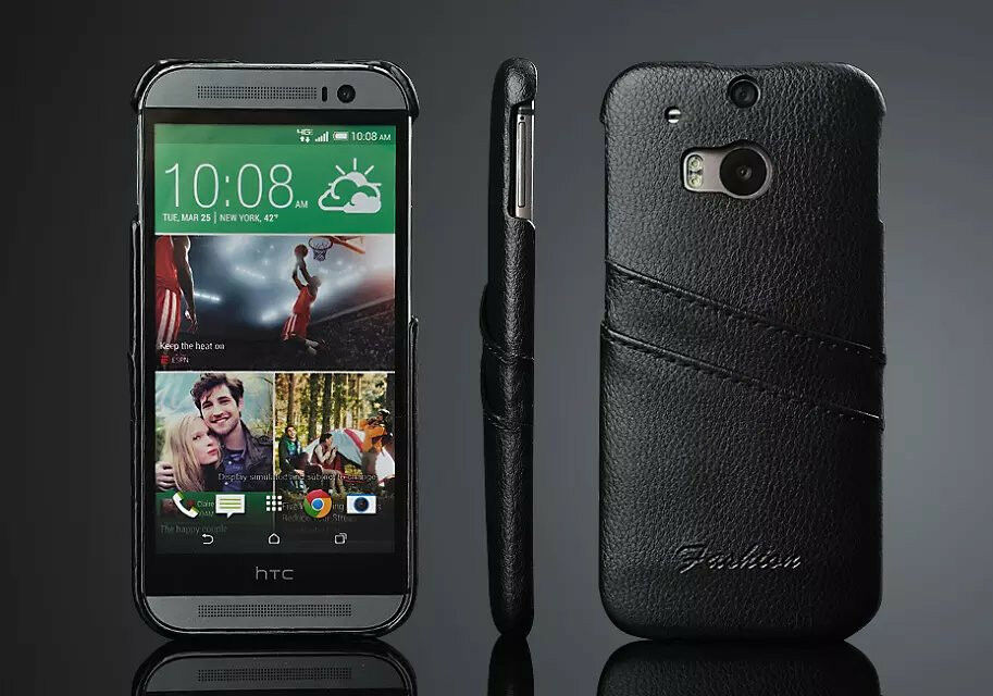 ... Genuine Leather Card Slot Phone Back Case Covers For HTC ONE M8 : eBay