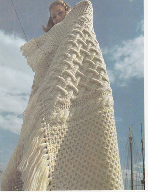 Knitting Pattern- Lovely Aran blanket- knitted in Panels then joined eBay