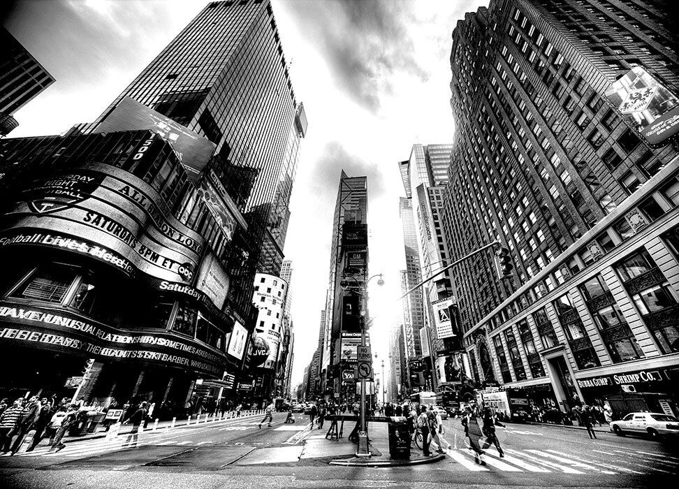 Wallpaper mural times square vintage new york city for Black and white new york mural wallpaper