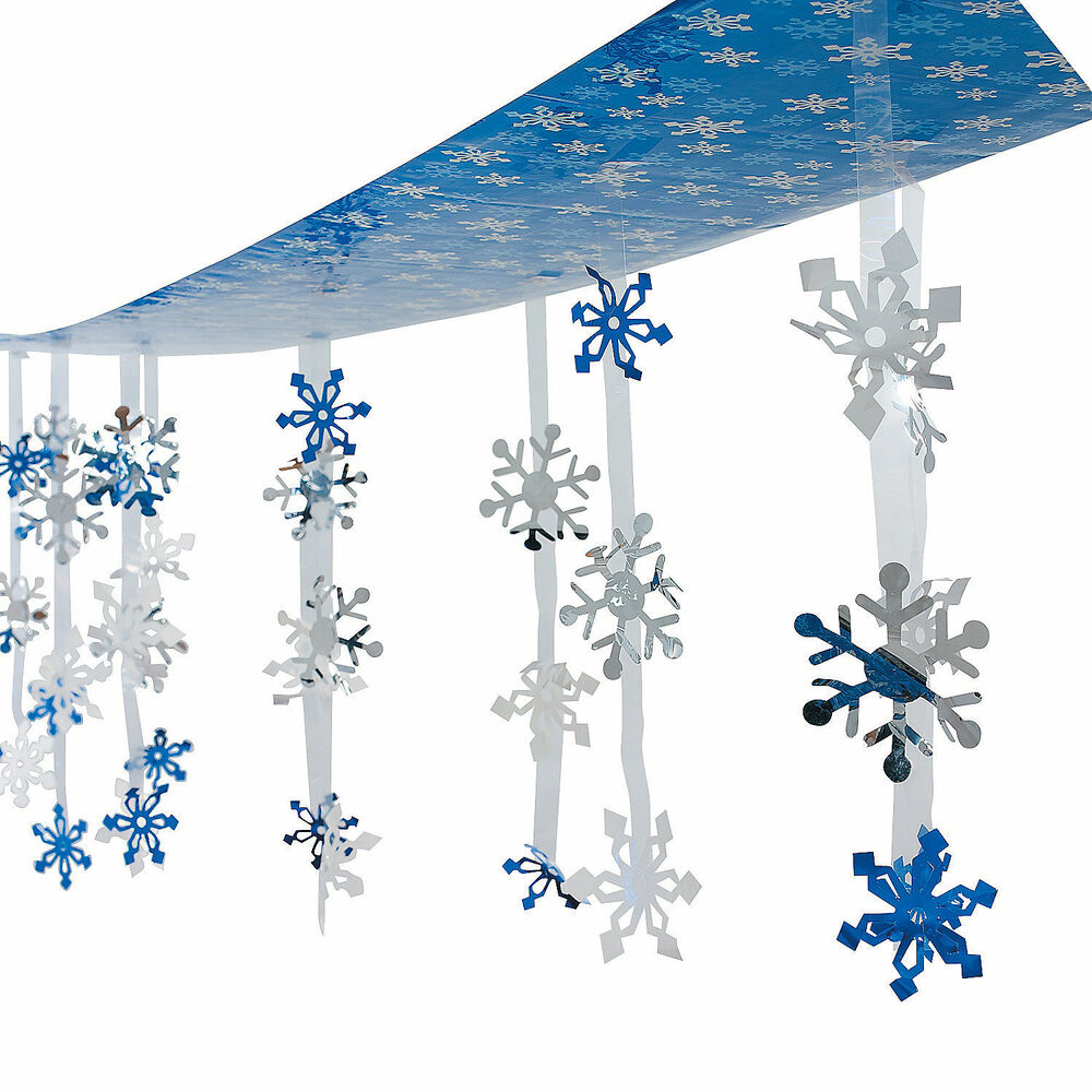 Winter Themed Christmas Decorations: CHRISTMAS Winter Frozen Party Decoration Dangling