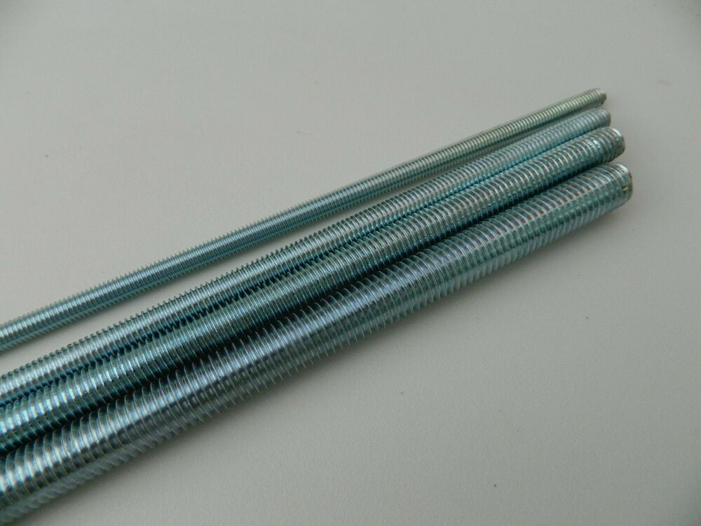 M mm bright zinc plated fully threaded rod bar studding