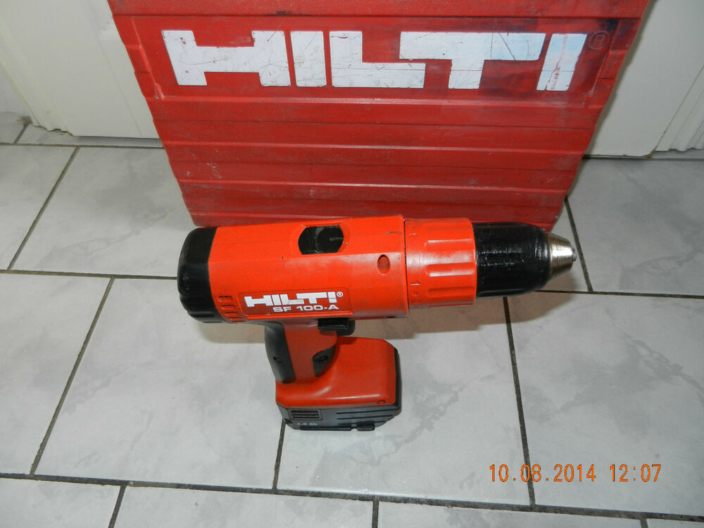 hilti sf100a profi akkubohrschrauber mit gutem akku koffer von privat top zustan ebay. Black Bedroom Furniture Sets. Home Design Ideas