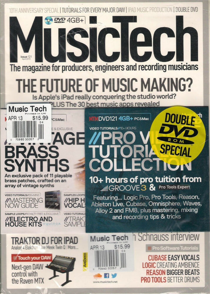 MUSIC TECH UK April 2013 MUSIC MAKING Apple iPAD Traktor DJ +2 DVD's Brass  Synth | eBay