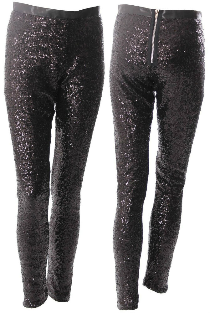 Sequin Trouser Sequins Trousers In Black Sizes 6 16 Uk