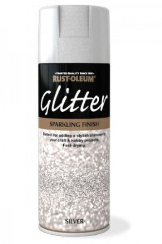 Silver Glitter Sparkling Finish Rust Oleum Fast Dry Spray