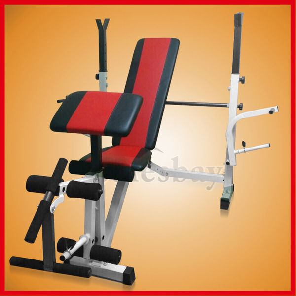 Home Gym Bench Set: Multi Station Home Gym Weight Bench Press Incline Fitness