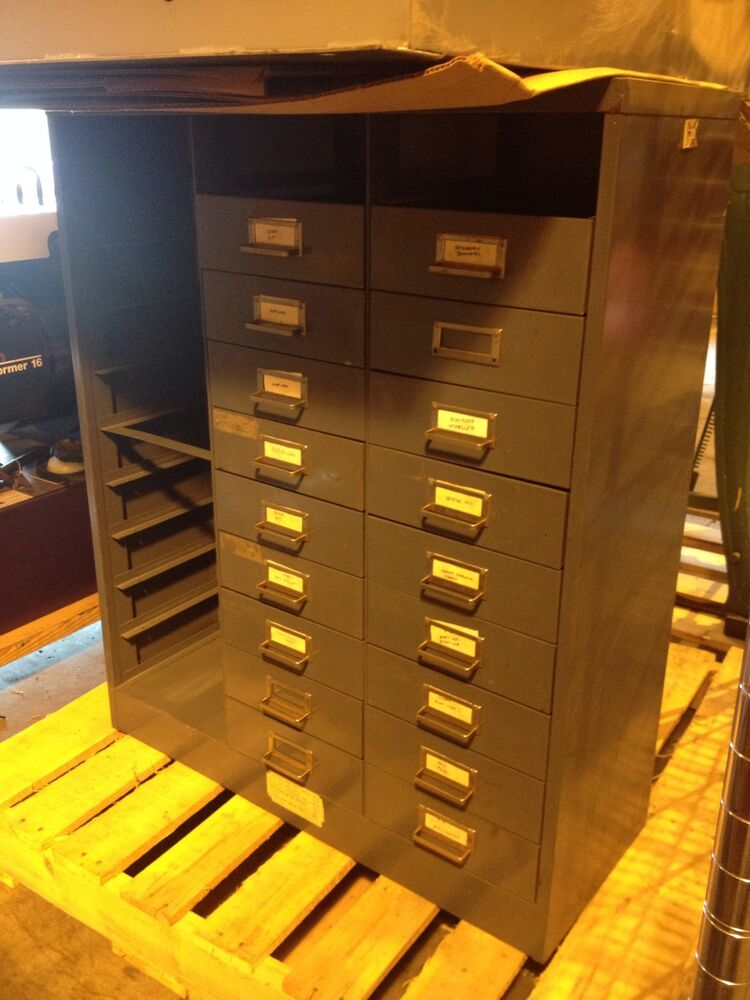 Parts Bin Storage Cabinet 36 Quot X 30 Quot X 12 Quot Missing Bins Ebay