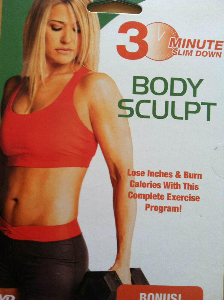 30 minute slim down body sculpt lose inches burn calories new dvd routine ebay. Black Bedroom Furniture Sets. Home Design Ideas