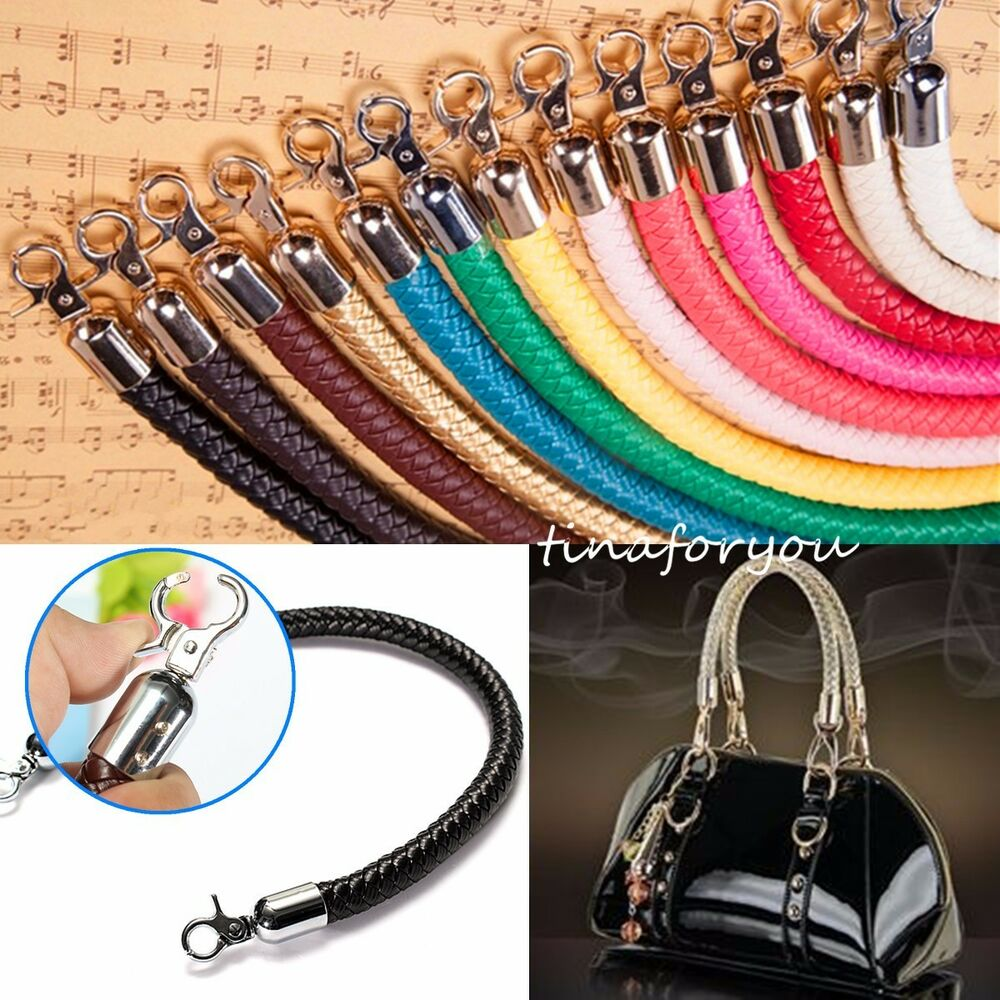 Leather Braided Purse Handle Shoulder Bags Belt