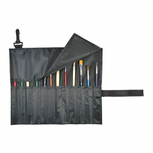 Wall Art Supply Holder : Paint brush or tool holder case organizer black nylon
