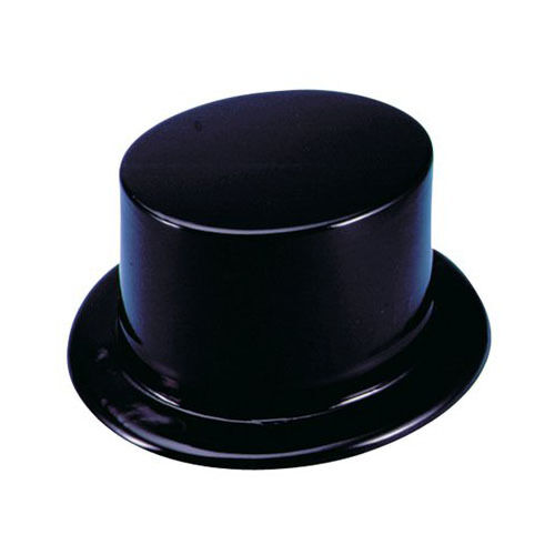 Black plastic top hats 12 pack party top hats 1 dozen ebay - Top plastic krukje ...