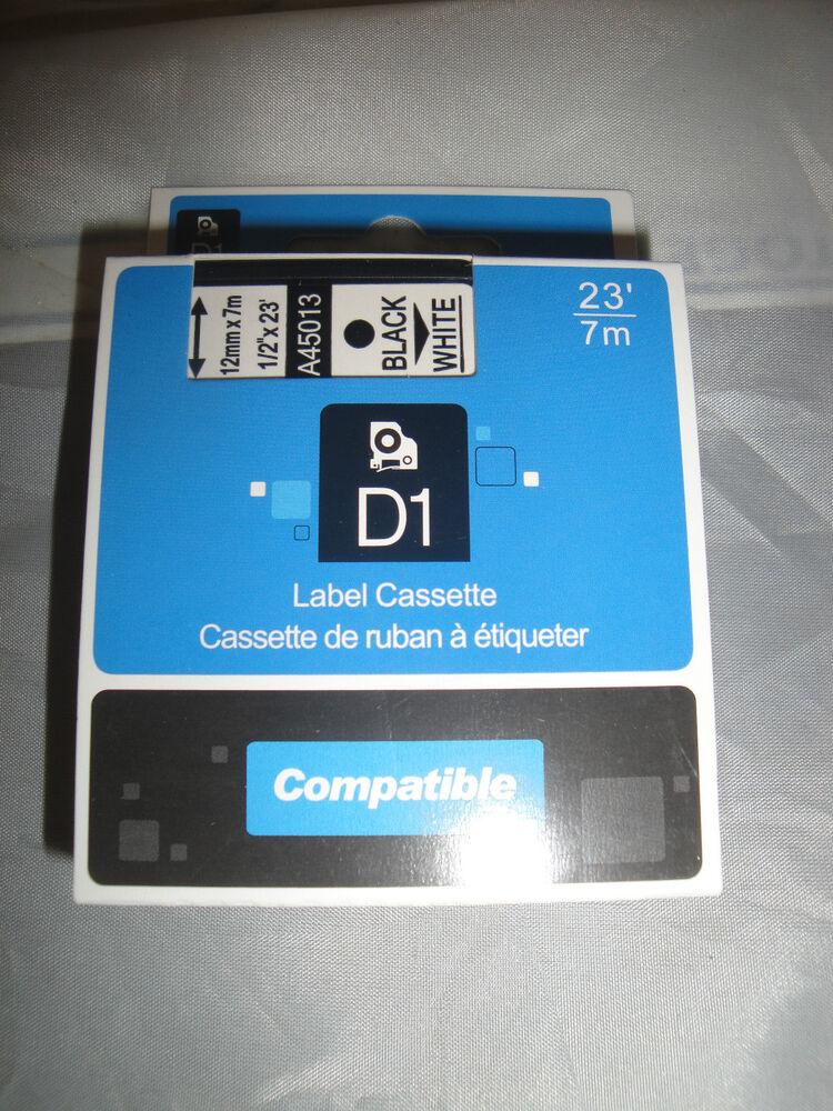 Dymo 160 compatible d1 label cassette tape black print for Dymo labelmanager 160 tape