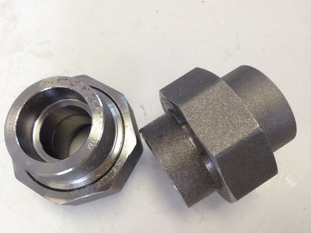 Lot forged steel quot socket weld union a fs