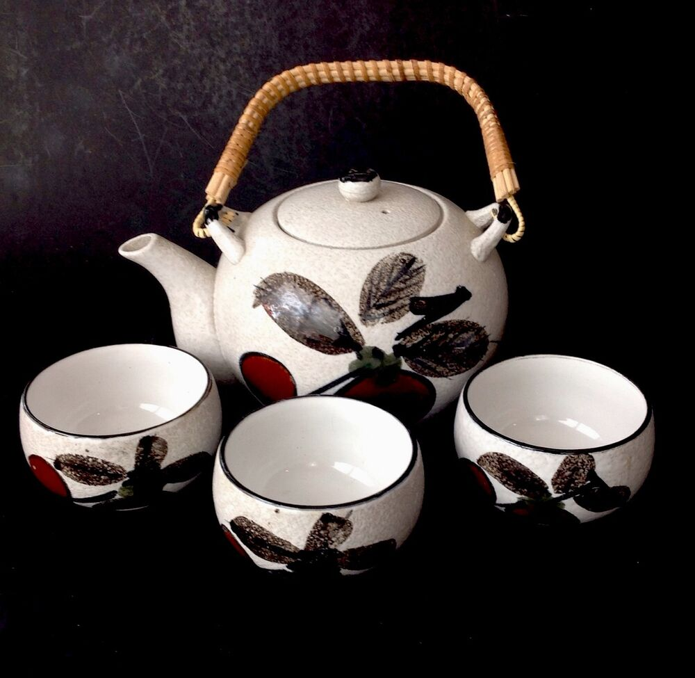 Hand Painted Vintage Stoneware Made In Japan