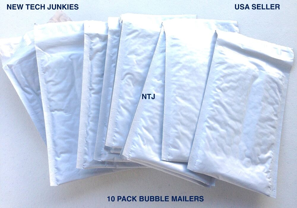0 size 6x9 10 poly bubble mailer bags gray padded