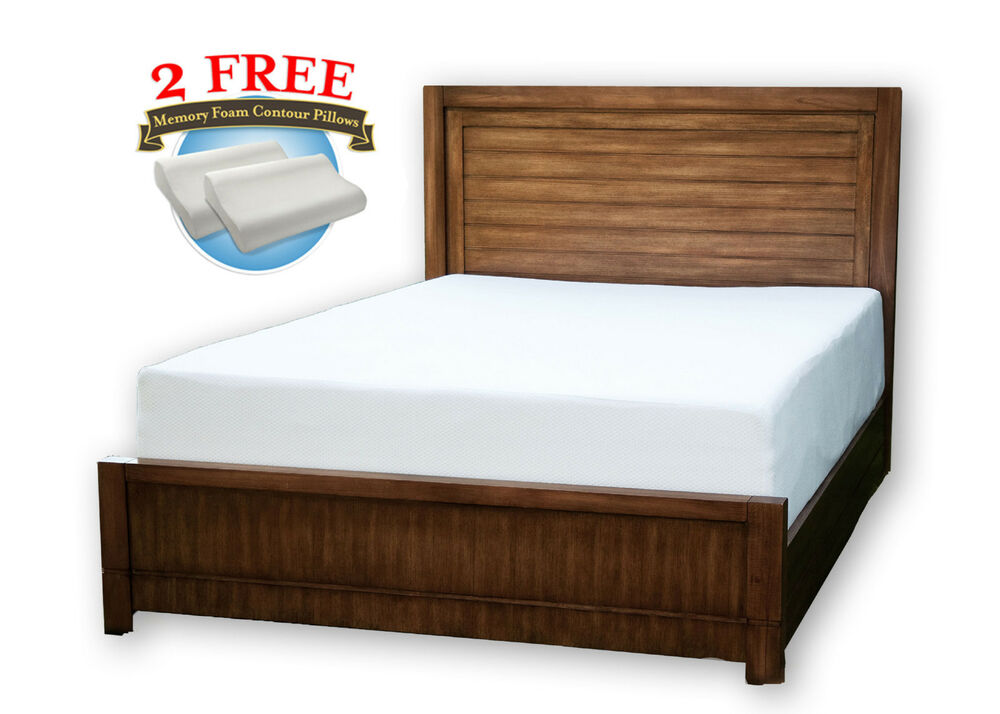 10 inch queen memory foam mattress traditional or cool ebay. Black Bedroom Furniture Sets. Home Design Ideas