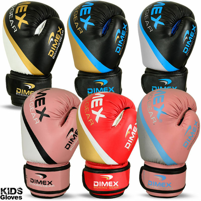 Kids Boxing Gloves Punch Bag Sparring MMA Training Mitts