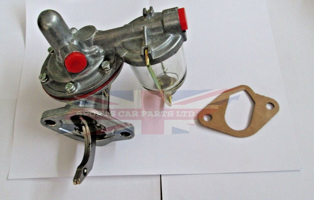 Brand New Fuel Pump With Glass Bowl And Priming Handle Triumph Tr3