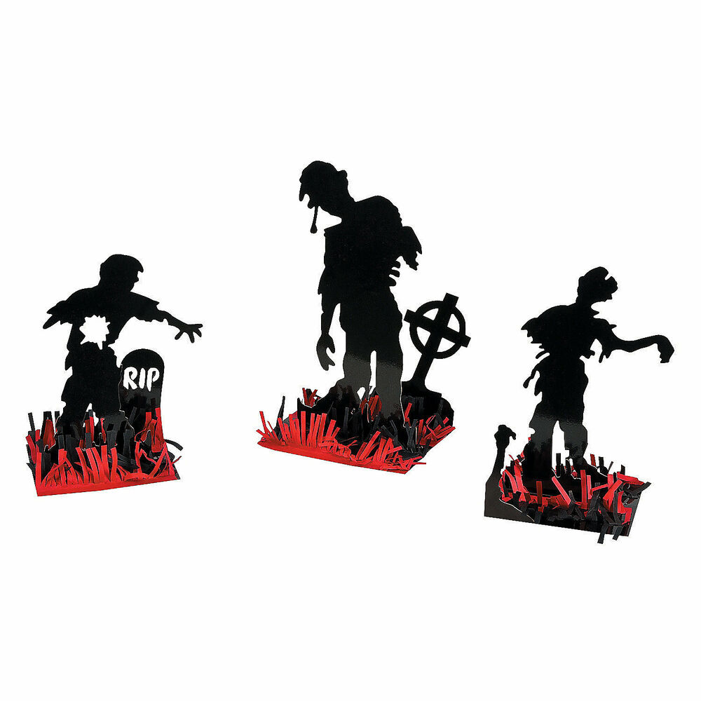 3 pc set halloween party prop decoration zombie walking for Table zombies