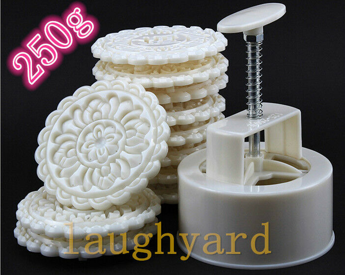 Round Shape Baking Tool Pastry Moon Cake Mold 250g One