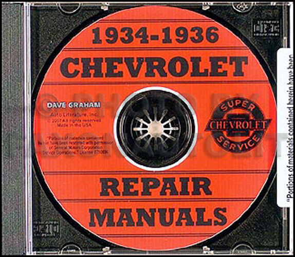 1934 1935 1936 Chevy Shop Manual On CD Chevrolet Car And