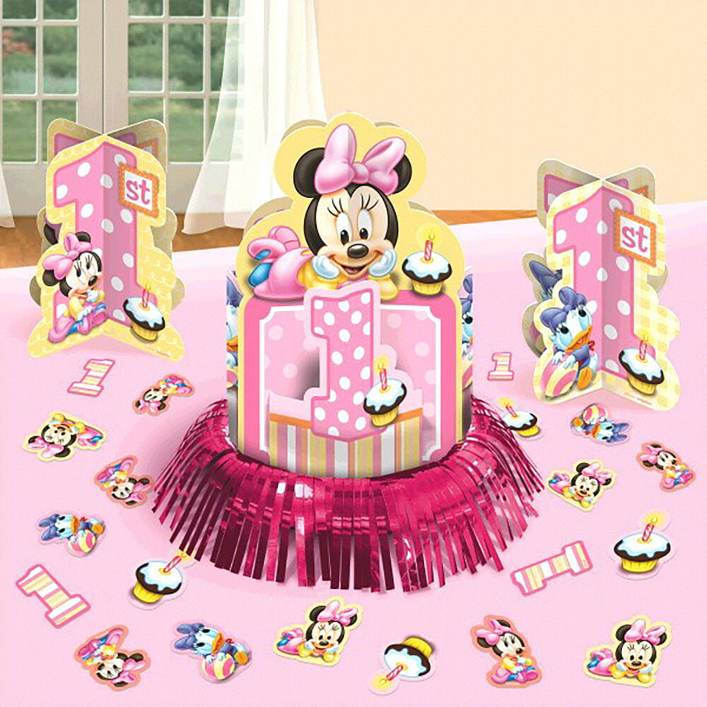 1st Birthday Table Ideas: Disney Baby Minnie Mouse 1st Birthday Party Table