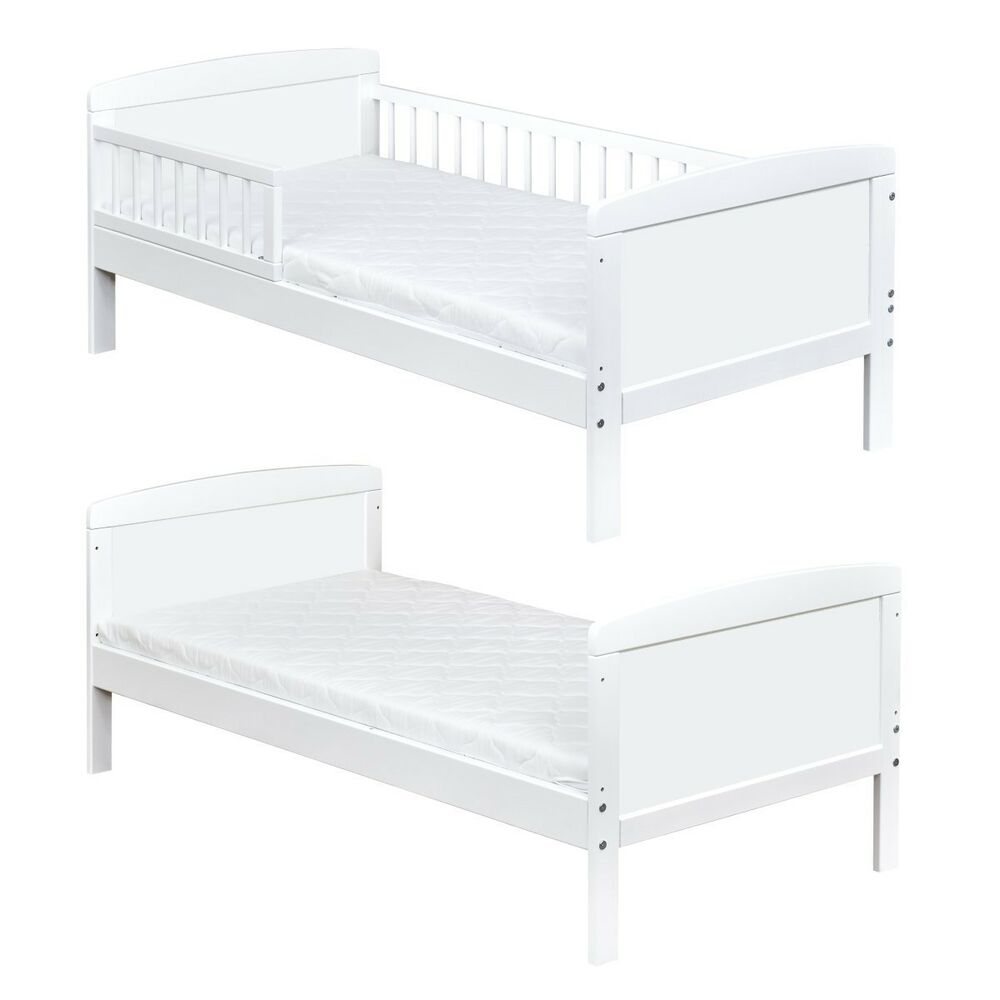 kinderbett juniorbett massivholz in weiss 140x70cm neu ebay. Black Bedroom Furniture Sets. Home Design Ideas