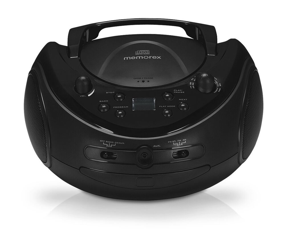 memorex mp3221 am fm radio cd r rw player portable boombox stereo ebay. Black Bedroom Furniture Sets. Home Design Ideas