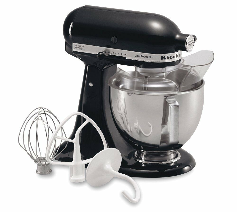 new kitchenaid stand mixer ksm100psob onyx black 4 5 quart tilt model made usa ebay. Black Bedroom Furniture Sets. Home Design Ideas