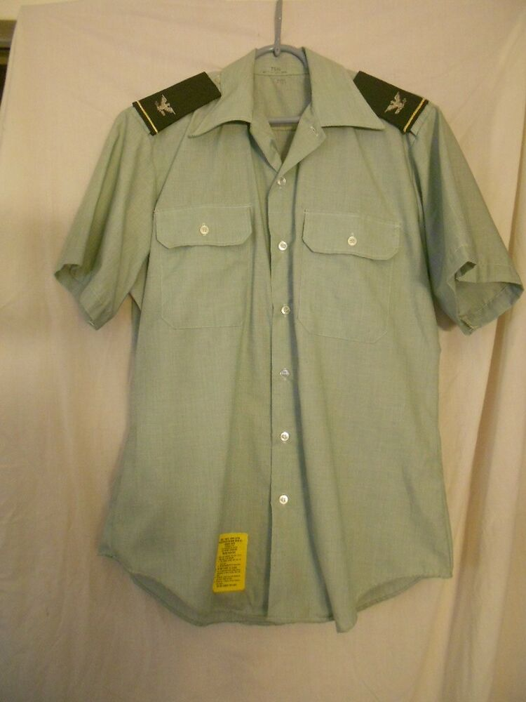 Men 39 S Short Sleeve Army Uniform Shirt Size 15 1 2 With