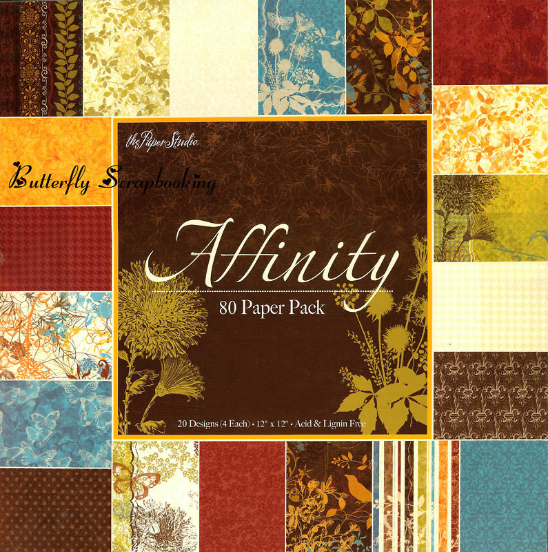 Affinity 12x12 scrapbooking paper pad 80 sheets paper for Hobby lobby craft paper