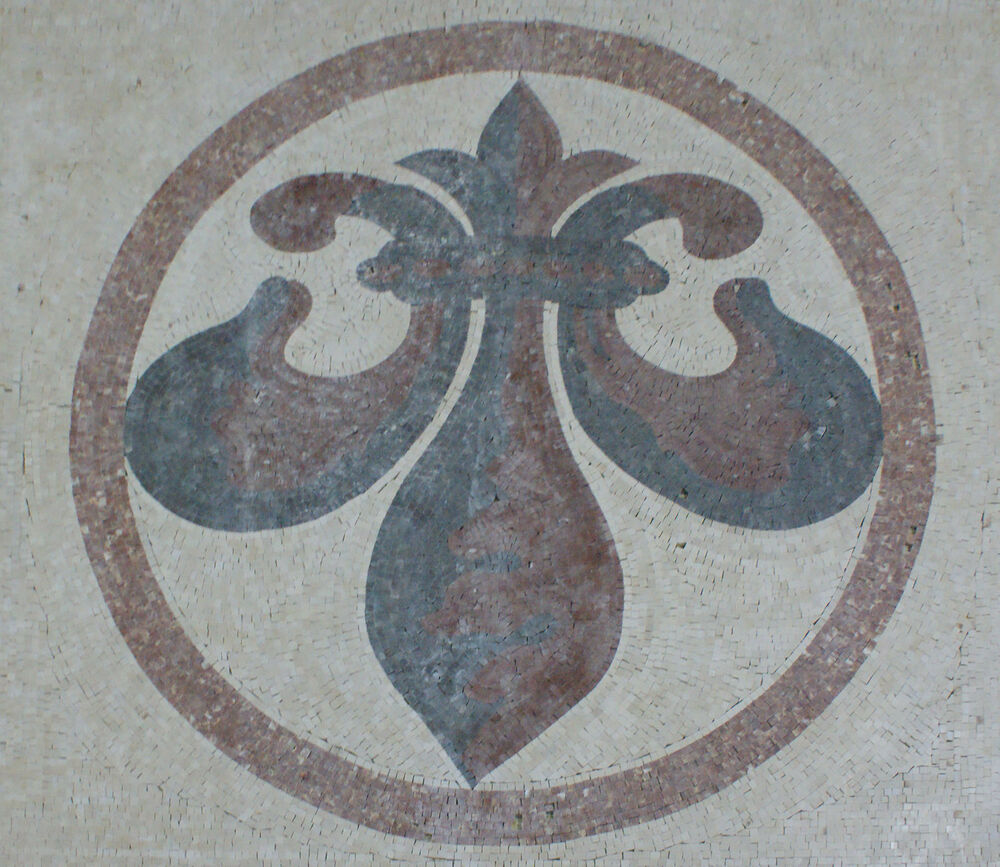 Fleur de lys floral carpet home decor mosaic geo2256 ebay for Floral pattern wall to wall carpet