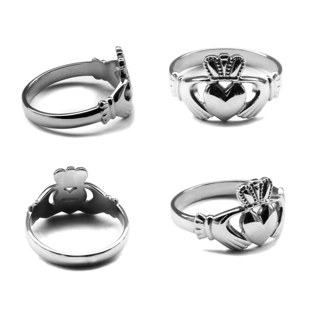 new 925 sterling silver claddagh ring irish made all sizes. Black Bedroom Furniture Sets. Home Design Ideas
