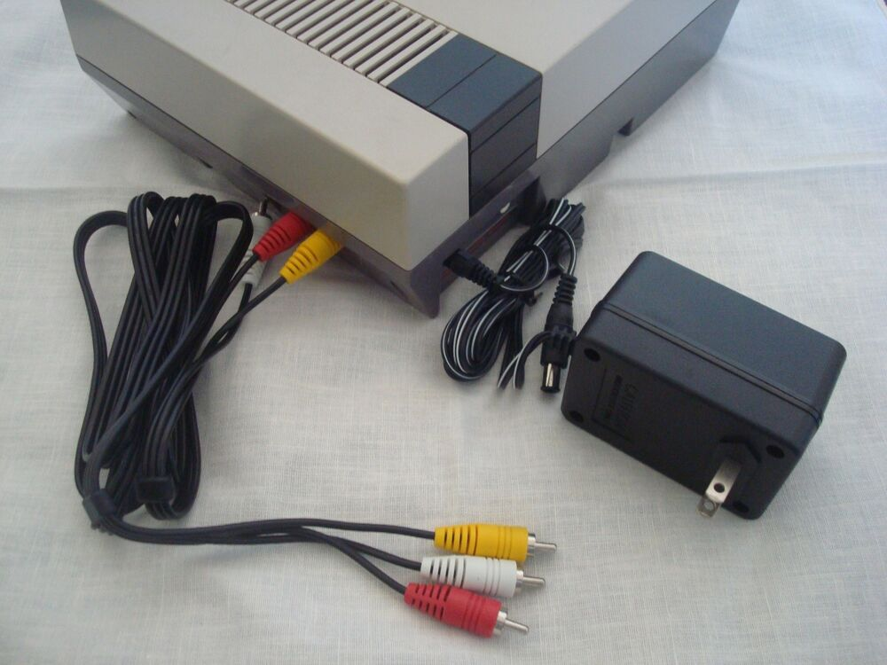 Nes Nintendo System Hook Ups Kit Ac Adapter Av Cable