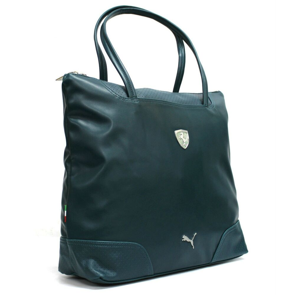 Perfect VariationofPumaFerrariLSWeekenderBagREDorBLACKLeather