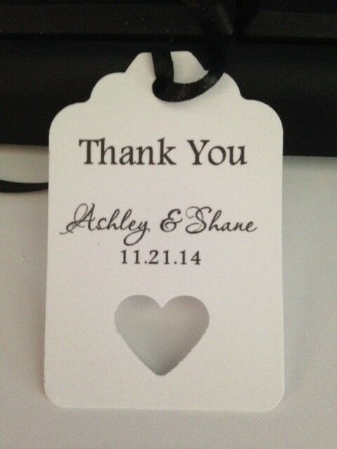 Wedding Tags Personalized Thank You Favor Gift Hang Tags