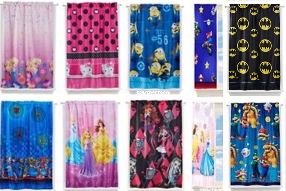 Curtains Ideas kids room darkening curtains : Kids ROOM DARKENING CURTAIN PANEL Lights Black-Out TV Characters ...