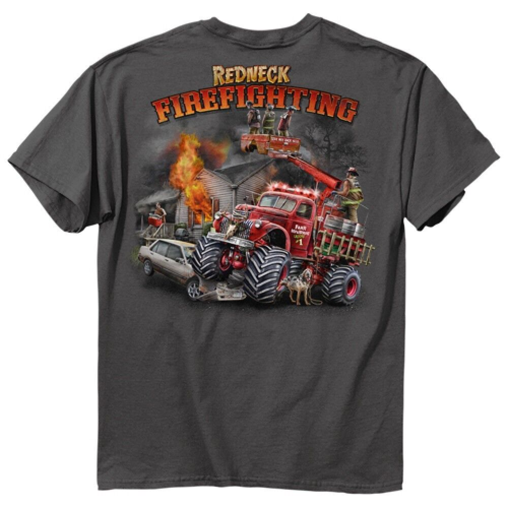 Printed usa brand fashion t shirts hats firefighter t for On fire brand t shirts