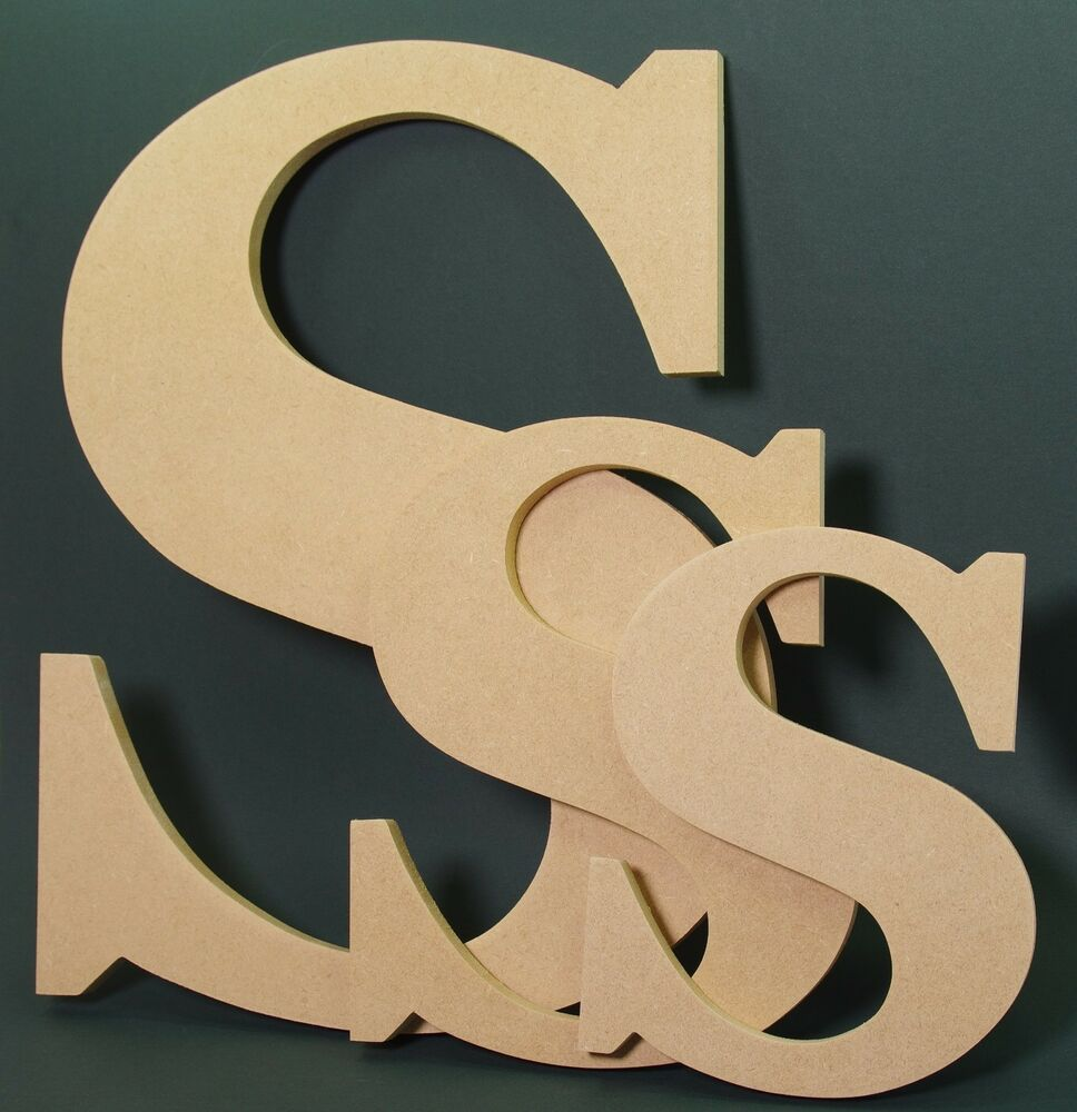 Extra large wooden letters 28 cm made from mdf hand made for Large freestanding wooden letters