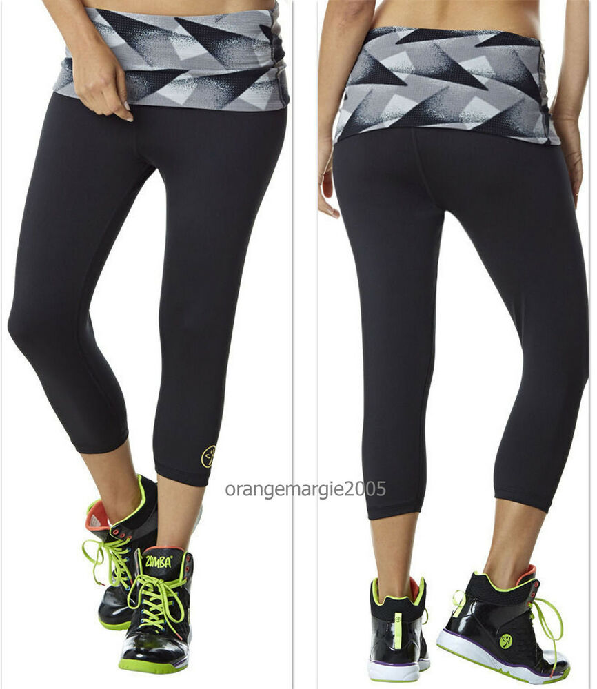 Zumba Fitness Leggings: ZUMBA CAPRI LEGGINGS PANTs ~Yoga~Dance~Fitness~Work Out