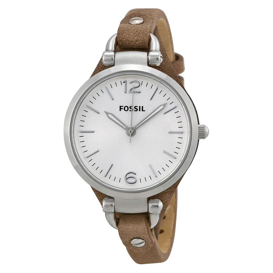 Fossil georgia tan leather ladies watch es3060 4051432543623 ebay for Watches on ebay