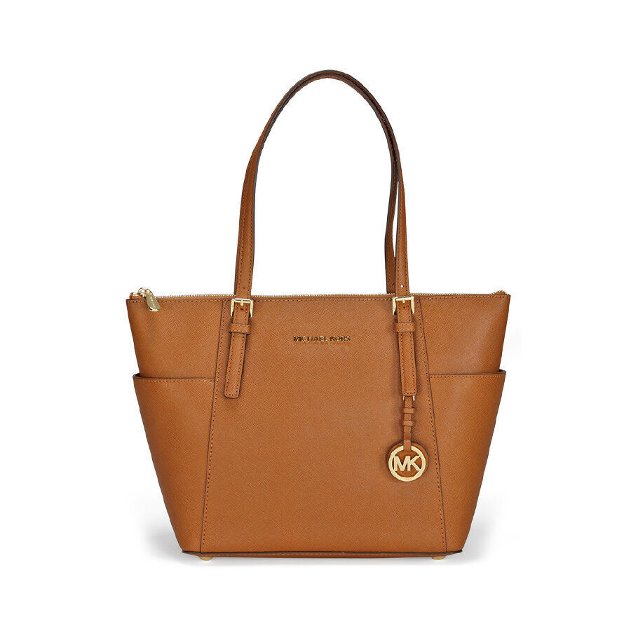 michael kors jet set saffiano tote in luggage ebay. Black Bedroom Furniture Sets. Home Design Ideas