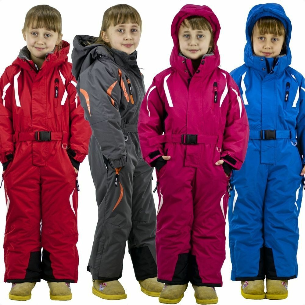 schneeoverall skianzug winteranzug schneeanzug kinder m dchen jungen ski overall ebay. Black Bedroom Furniture Sets. Home Design Ideas