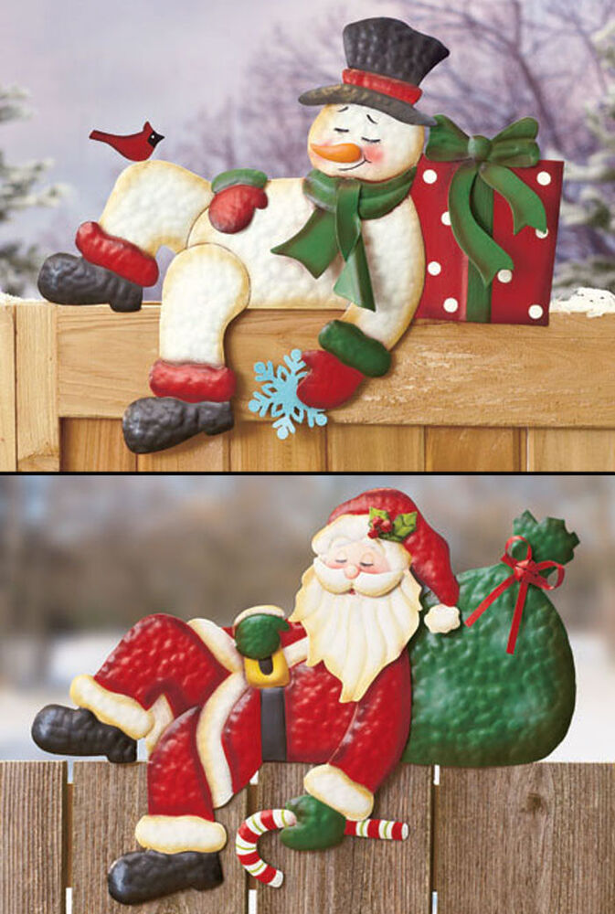 Holiday Fence Topper IN HAND Winter Christmas Snowman ...