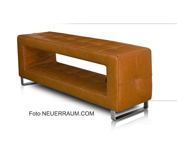 Small Narrow Stylish Leather Bench 4 Colors Stable