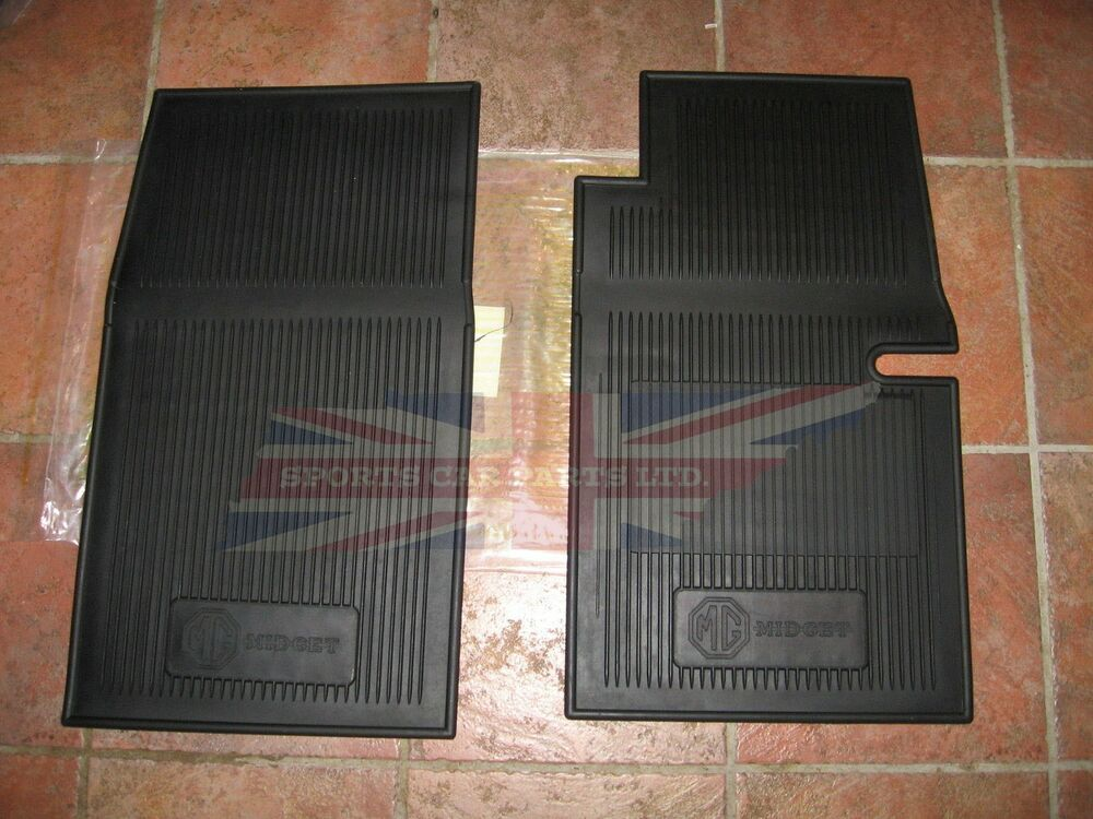 new set of amco style rubber floor mats mg midget