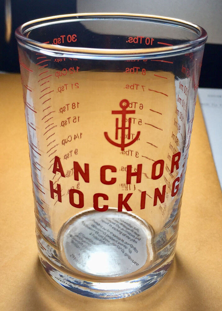 anchor hocking 5 oz clear glass measuring cup bar tools jigger shot glass ebay. Black Bedroom Furniture Sets. Home Design Ideas
