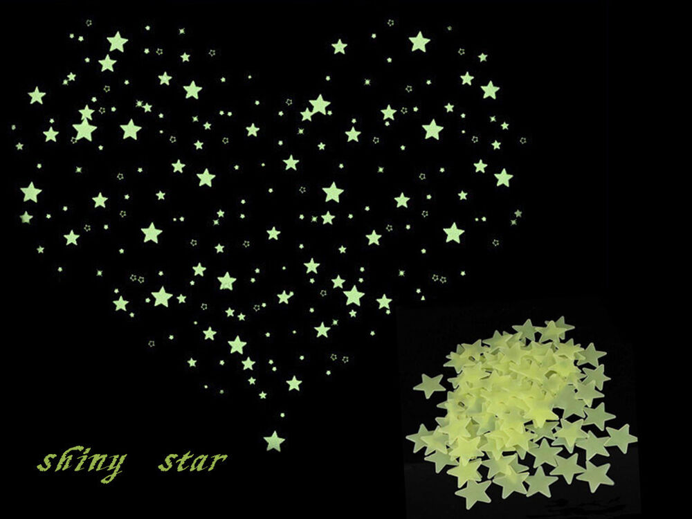 Fairytale Fluorescent Glow Stars Ceiling Wall Stickers