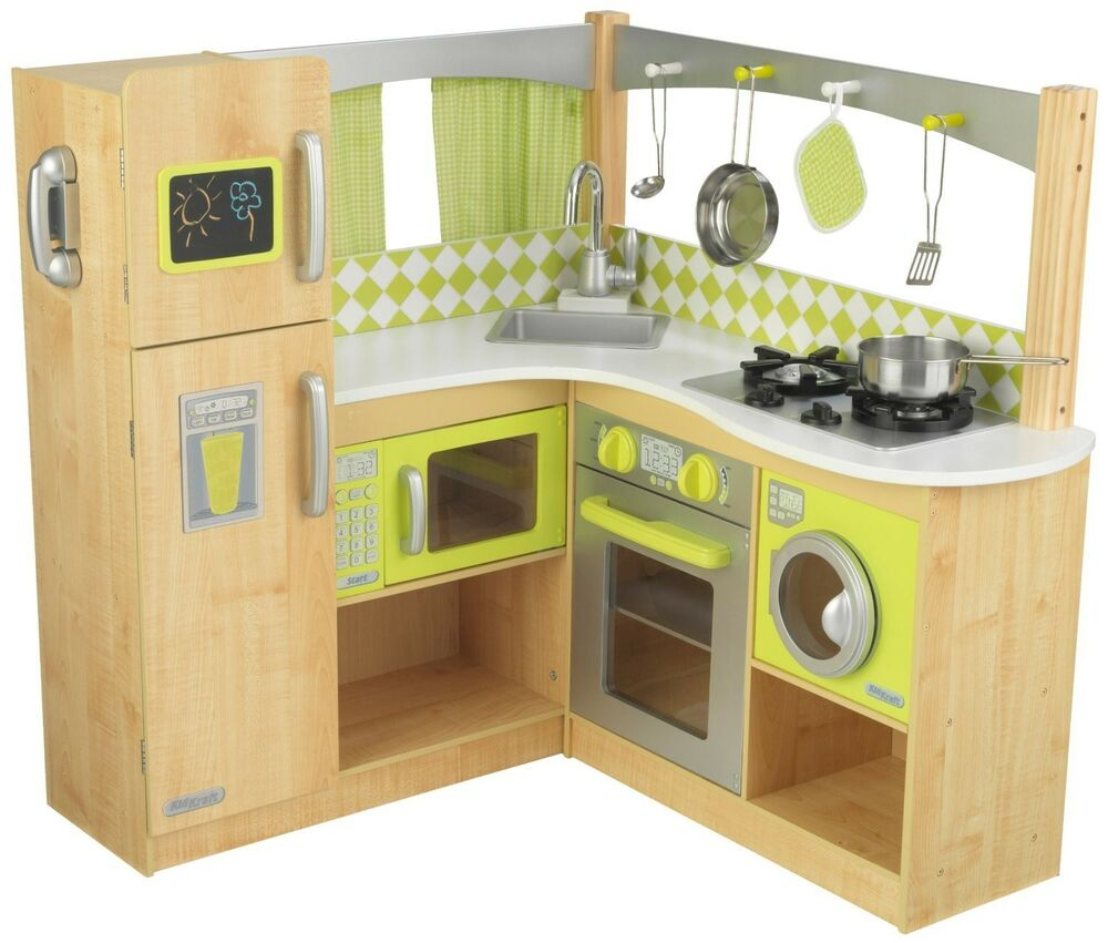 Kidkraft Corner Kitchen: New Limited Edition Kidkraft Wooden Gourmet Lime Green